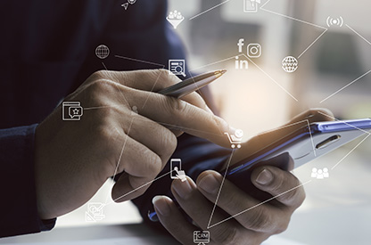 Web, social <br> e app